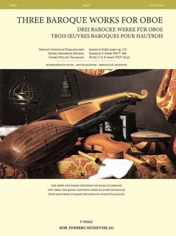 - 3 Baroque Works for Oboe - Oboe and Basso Continuo - Sheet Music - di-arezzo.com