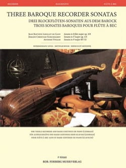 - 3 Baroque Sonatas for Recorder - Recorder and Basso continuo - Sheet Music - di-arezzo.com