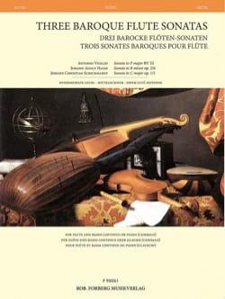 3 Sonates Baroques pour Flûte - Flûte et Basse continue laflutedepan