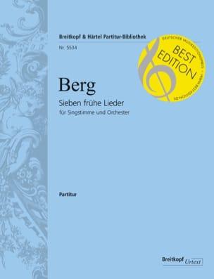Sieben Frühe Lieder - Conducteur - BERG - Partition - laflutedepan.com