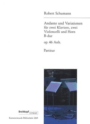 SCHUMANN - Andante et Variations, op. 46 Anh. - Conducteur - Partition - di-arezzo.fr