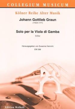 Johann Gottlieb Graun - Solo for Viola di Gamba - Viola da Gamba and Basso continuo - Sheet Music - di-arezzo.com