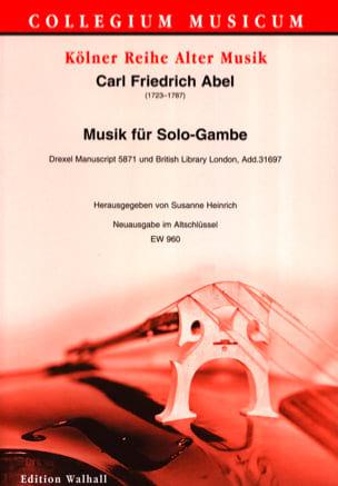 Carl Friedrich Abel - Musik für Solo-Gambe - Viole de Gambe Solo - Partition - di-arezzo.fr