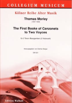 Thomas Morley - The First Book of Canzonets to 2 Voices for Cellos - Sheet Music - di-arezzo.com