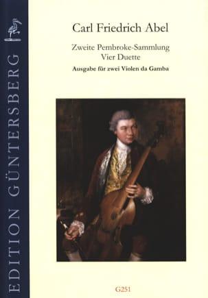 Carl Friedrich Abel - Zweite Pembroke-Sammlung 4 Duos - 2 Viols of Gambe - Sheet Music - di-arezzo.com