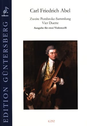 Carl Friedrich Abel - Zweite Pembroke-Sammlung 4 Duos for 2 cellos - Sheet Music - di-arezzo.com