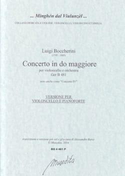 Concerto en Do Majeur - Violoncelle et piano BOCCHERINI laflutedepan