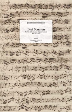 BACH - Facsimile of the 3 Sonatas BWV 1027-1029 for viola da gamba and harpsichord - Sheet Music - di-arezzo.com