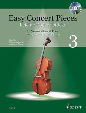 - Easy Concert Pieces Volume 3 - Violoncelle et piano - Partition - di-arezzo.fr