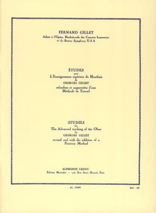 Georges Gillet - Studies for oboe higher education - Sheet Music - di-arezzo.com