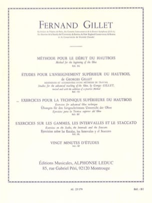 Fernand Gillet - Exercises for the superior technique of oboe - Sheet Music - di-arezzo.co.uk