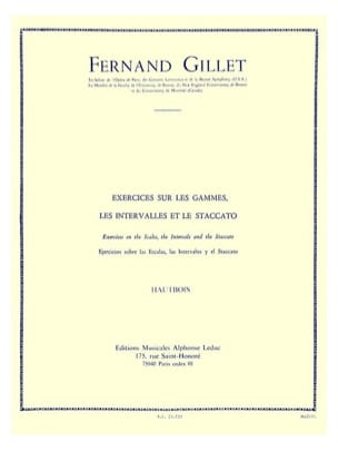 Fernand Gillet - Exercises on the ranges Oboe - Sheet Music - di-arezzo.co.uk
