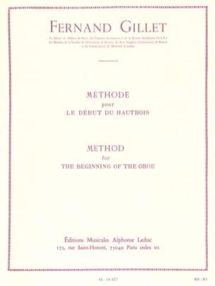 Méthode pour le début du hautbois Fernand Gillet laflutedepan