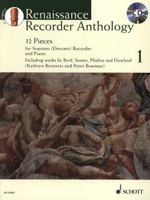 Renaissance Recorder Anthologie Volume 1 Partition laflutedepan