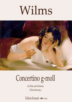 Johann Wilhelm Wilms - Concertino in G minor - Flute and piano - Sheet Music - di-arezzo.co.uk