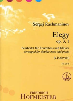 Elegy, op. 3 n° 1 - Contrebasse et piano RACHMANINOV laflutedepan