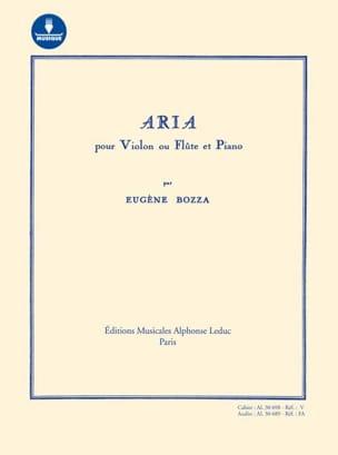 Eugène Bozza - Aria - Violon (ou flûte) et piano - AVEC CARTE DE TÉLÉCHARGEMENT - Partition - di-arezzo.fr