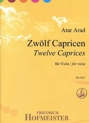 Atar Arad - 12 Caprices - Alto seul - Partition - di-arezzo.fr