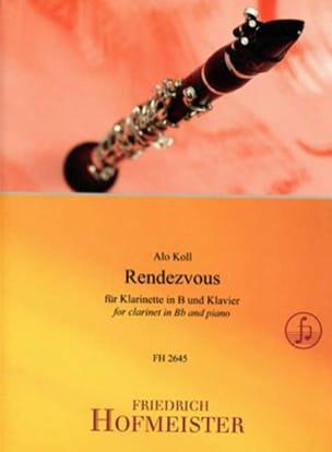 Alo Koll - Rendezvous - Clarinette et piano - Partition - di-arezzo.fr