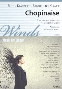 CHOPIN - Chopinaise - Flute Quartet, Clarinet, Bassoon and Piano - Sheet Music - di-arezzo.com