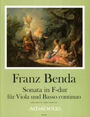 Sonate en Fa Majeur - Alto et BC - Franz Benda - laflutedepan.com