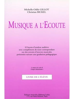 Gillot Michelle-Odile / Bickel Christian - Listening Music - Elém. 2nd year Cycle 2 - Sheet Music - di-arezzo.com