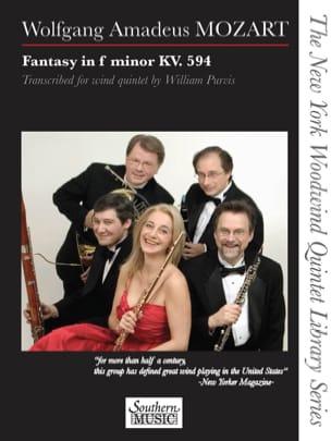 Wolfgang Amadeus Mozart - Fantaisie en fa mineur, KV 594 - Quintette à vents - Partition - di-arezzo.fr