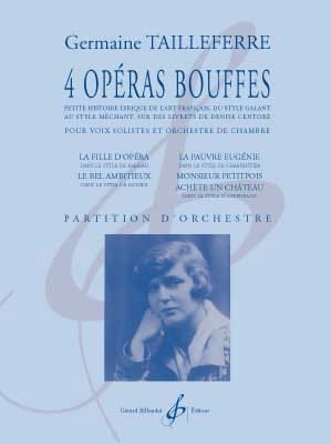 Germaine Tailleferre - 4 Opéras Bouffes - Partition - di-arezzo.fr