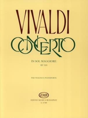 VIVALDI - concerto in sol maggiore per violino archi e BC RV 310 - Partition - di-arezzo.fr