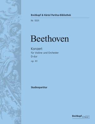 Ludwig van Beethoven - Concerto pour violon, op. 61 - Conducteur - Partition - di-arezzo.fr