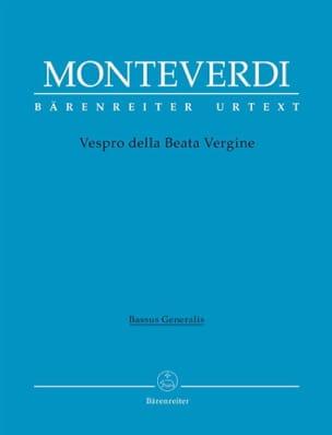 Claudio Monteverdi - Vespro della Beata Vergine Marianvesper - Partition - di-arezzo.fr