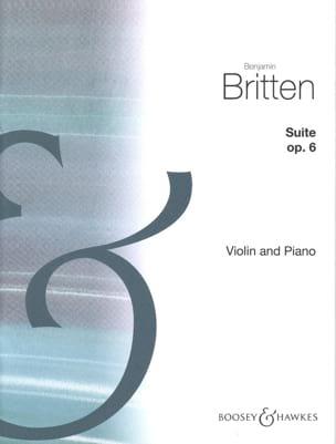Suite opus 6 - Benjamin Britten - Partition - laflutedepan.com