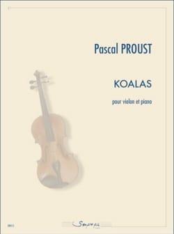 Koalas - Violon et piano Pascal Proust Partition Violon - laflutedepan