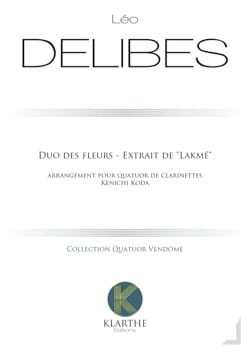 Leo Delibes - Duo of Flowers - 4 Clarinets - Sheet Music - di-arezzo.com