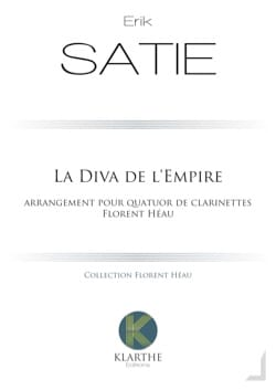 Erik Satie - La Diva de l'Empire - 4 Clarinettes - Partition - di-arezzo.fr
