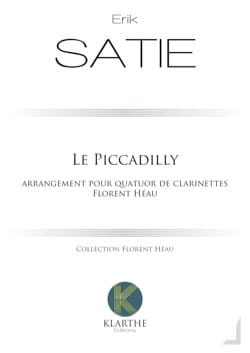 Erik Satie - Le Piccadilly - 4 Clarinettes - Partition - di-arezzo.fr