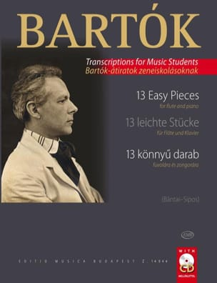 Béla Bartok - 13 Easy Pieces - Flûte et piano - Partition - di-arezzo.fr