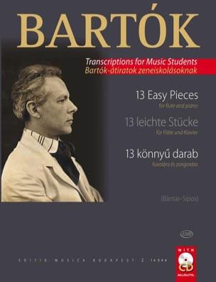 BARTOK - 13 piezas fáciles: flauta y piano - Partitura - di-arezzo.es