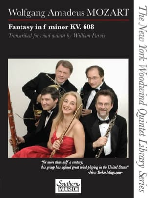 MOZART - Fantasy in F minor, KV 608 - Woodwind quintet - Sheet Music - di-arezzo.co.uk