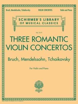 Bruch Max / Mendelssohn Bartholdy Felix / Tchaikovski Piotr Illitch - 3 Romantic Violin Concertos - Violin and Piano - Sheet Music - di-arezzo.co.uk