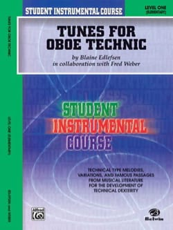 Edlefsen Blaine / Weber Fred - Tunes for Oboe Technic, Level I - Partition - di-arezzo.fr