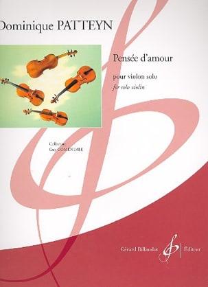 Dominique Patteyn - Thought of Love - Solo Violin - Sheet Music - di-arezzo.com