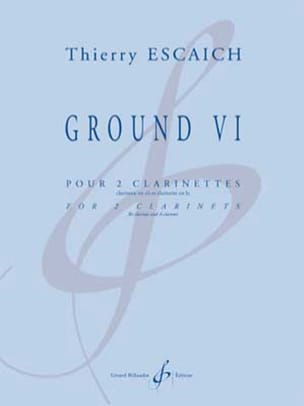 Thierry Escaich - Ground VI - 2 Clarinettes - Partition - di-arezzo.fr