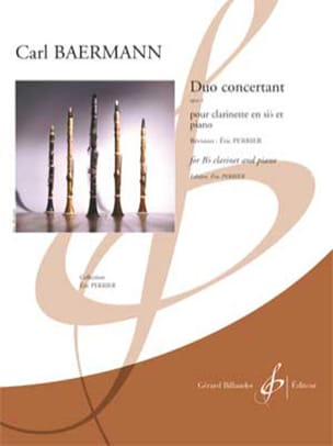 Carl Baermann - Duo Concertant, op. 4 - Clarinette et piano - Partition - di-arezzo.fr