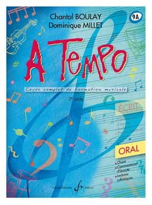Chantal BOULAY et Dominique MILLET - A Tempo Volume 9A - Oral - Partition - di-arezzo.fr