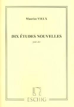Maurice Vieux - 10 Etudes nouvelles alto seul - Partition - di-arezzo.fr