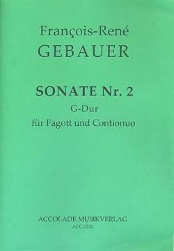 François-René Gebauer - Sonata No. 2 G Dur Dassonville - Sheet Music - di-arezzo.com
