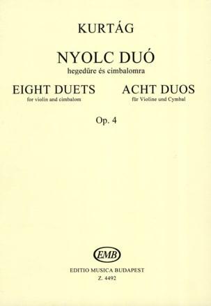 György Kurtag - 8 duos op 4 - Partition - di-arezzo.fr
