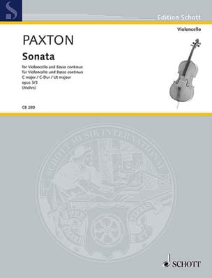 Stephen Paxton - Sonata op. 3 n ° 3 - Cello and BC - Sheet Music - di-arezzo.co.uk