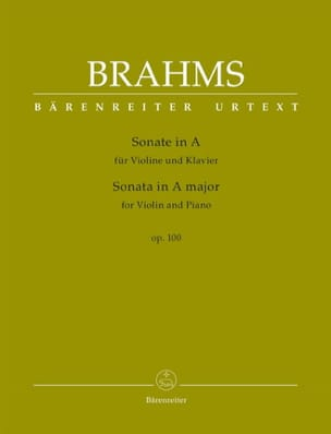 BRAHMS - Sonata in The Greater, op. 100 - Violin and piano - Sheet Music - di-arezzo.co.uk